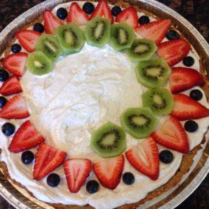fruit pizza in progress